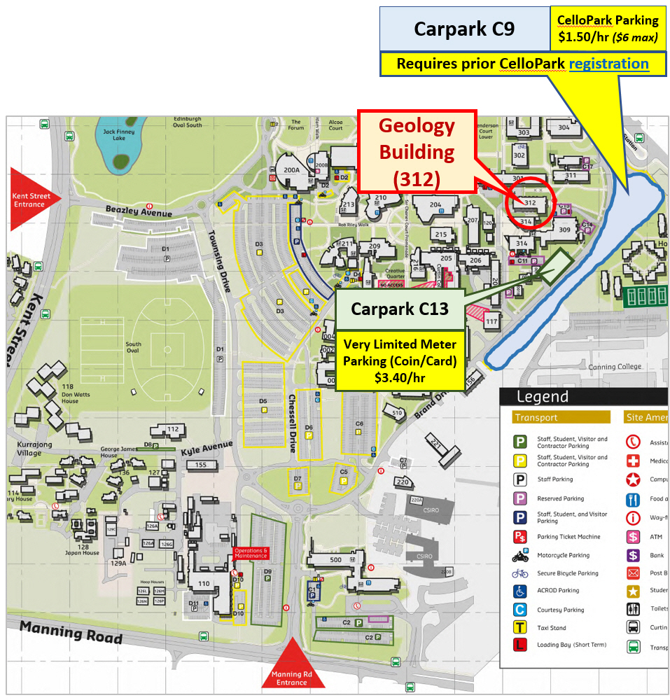 Curtin Campus Map Curtin campus map for 312.222 cropped v1 | Format My Thesis